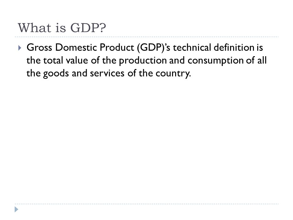 How is GDP computed.