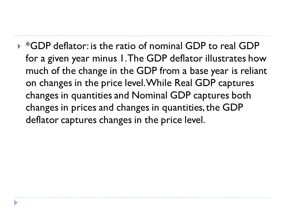 GDPGNP Definition: An estimated value of the total worth of a countrys production and services, calculated over the course on one year GDP (+) total capital gains from overseas investment (-) income earned by foreign nationals domestically Stands for:Gross Domestic ProductGross National Product Formula for Calculation: GDP = consumption + investment + (government spending) + (exports imports) GNP = GDP + NR (Net income from assets abroad (Net Income Receipts)) Layman Usage: Total value of products & Services produced within the territorial boundary of a country Total value of Goods and Services produced by all nationals of a country (whether within or outside the country) Application (Context in which these terms are used): To see the strength of a countrys local economy To see how the nationals of a country are doing economically