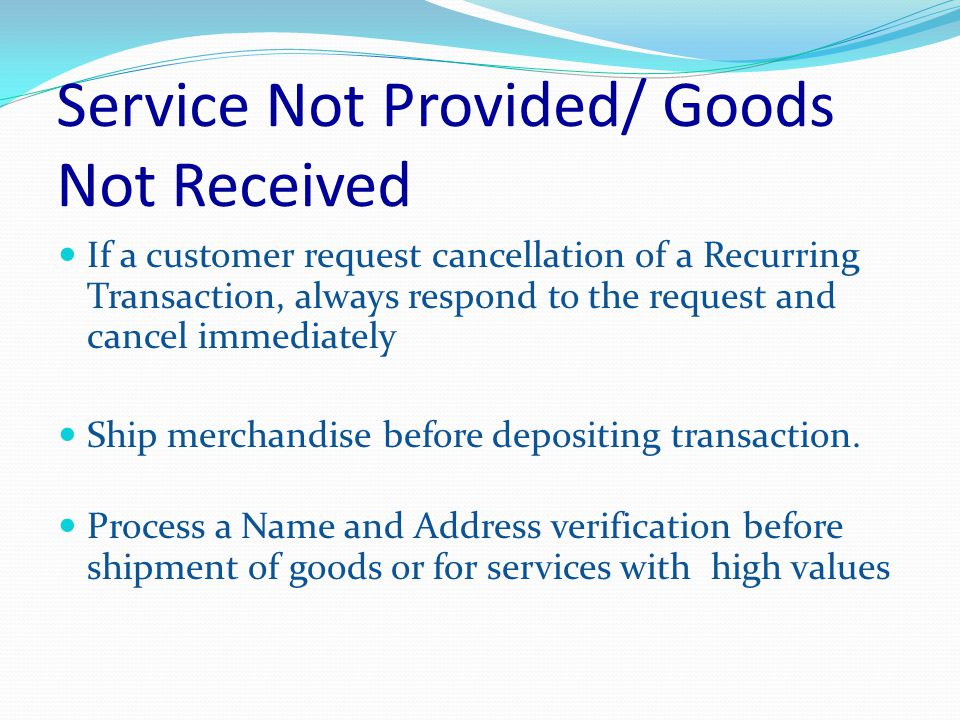 Requested Transaction Data Not Received Respond to ALL copy requests within 30 days from copy request date.