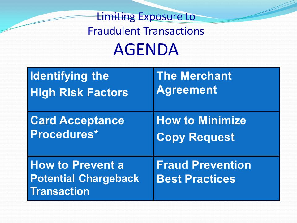 Chargeback Reasons Common Merchant Errors Transaction Amount Differ Card Not Valid or Expired Credit Not Processed Late Presentment Duplicate Processing