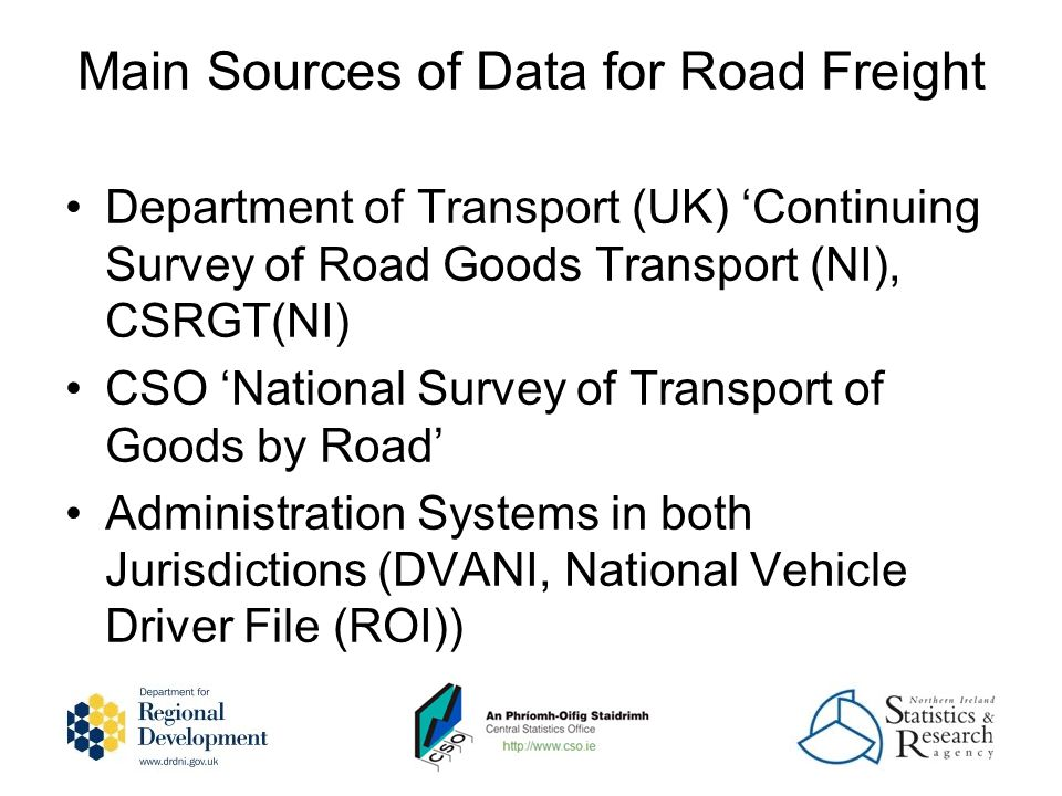 Rail Freight Data Issues Bord na Mona Extensive private rail network which is used for carrying Peat to power stations & other businesses 3.3 million tonnes carried in 2008 Data not included in the CSO Statistics