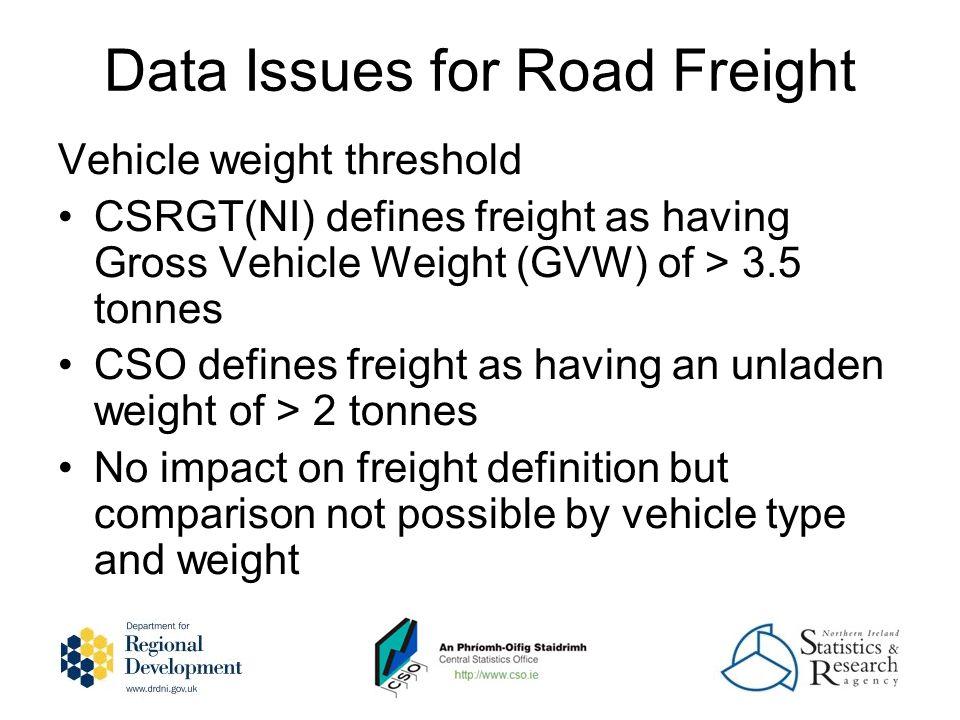 Rail Freight Data Gaps No significant data gaps identified yet