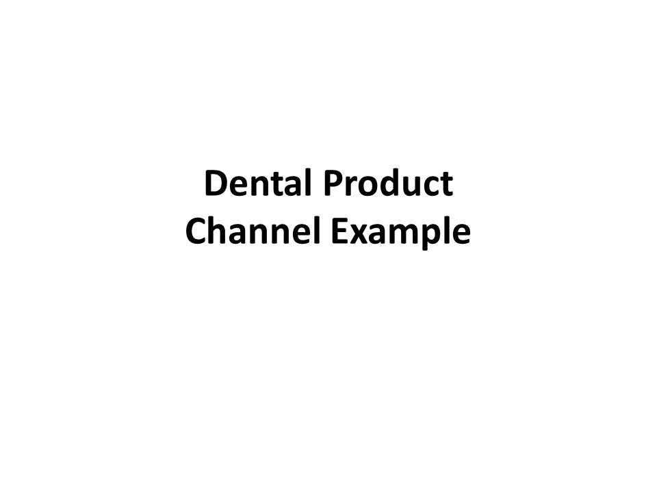 Dental Product Channel Example