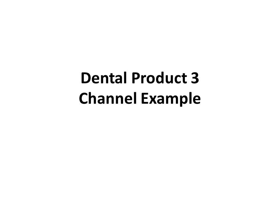 Dental Product 3 Channel Example