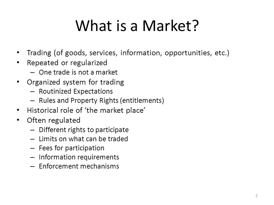 What is a Market.