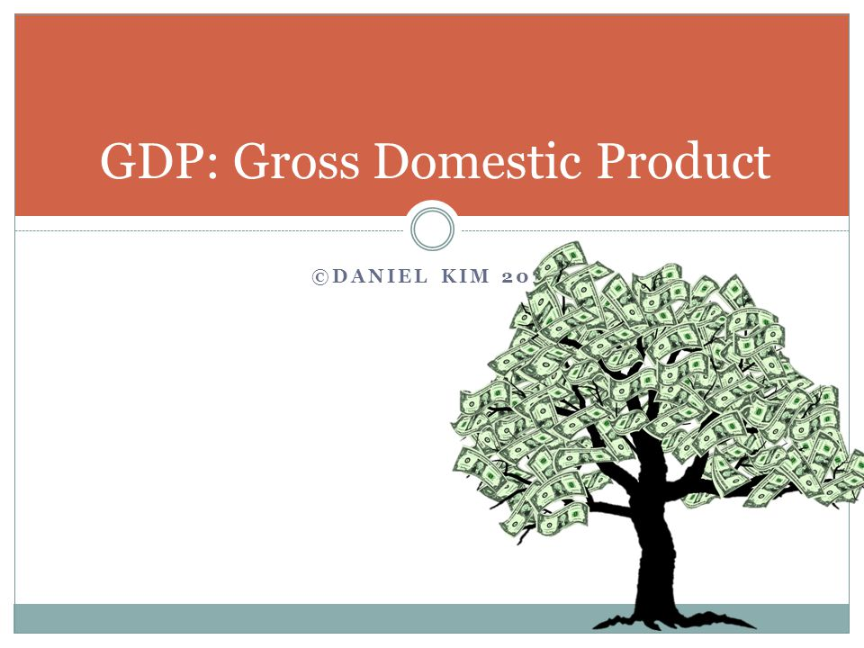 ©DANIEL KIM 2014 GDP: Gross Domestic Product