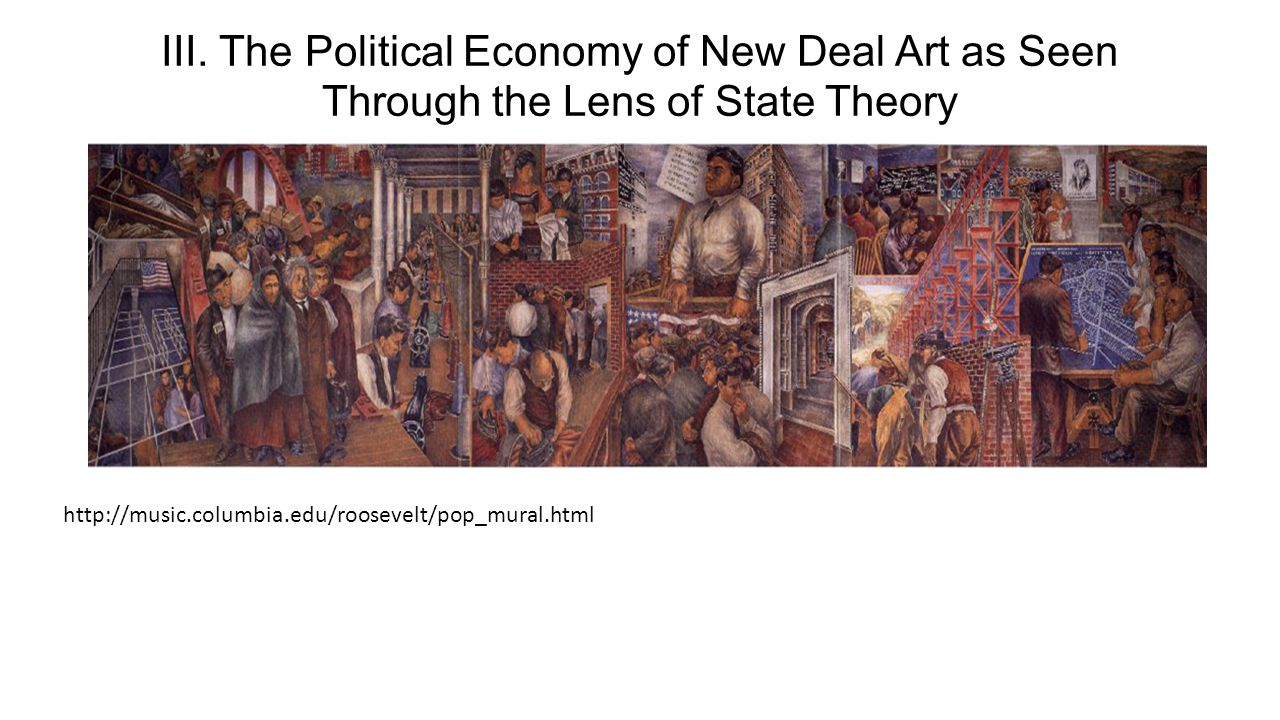 III. The Political Economy of New Deal Art as Seen Through the Lens of State Theory http://music.columbia.edu/roosevelt/pop_mural.html