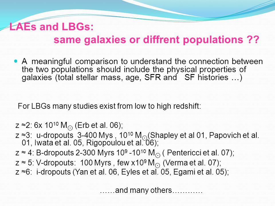 Increasing Stellar Mass Increasing Age Redshift 3.79 Mass=6.3 x 10 8 M Age= 10 Myrs
