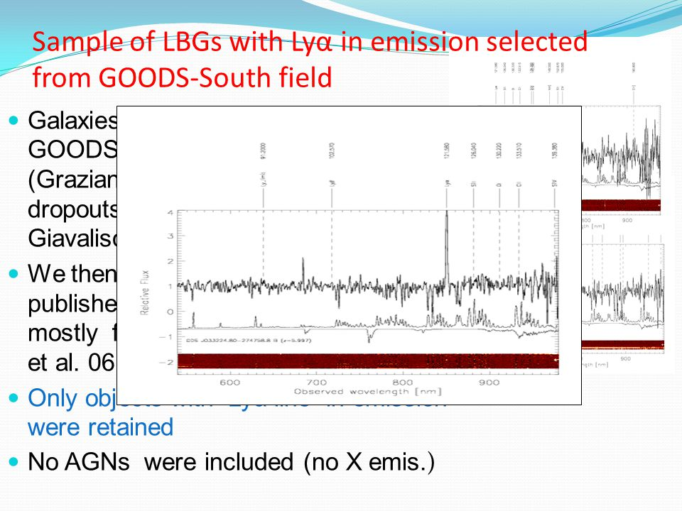 Q.How can we observe bright Lyα emission from evolved stellar populations .