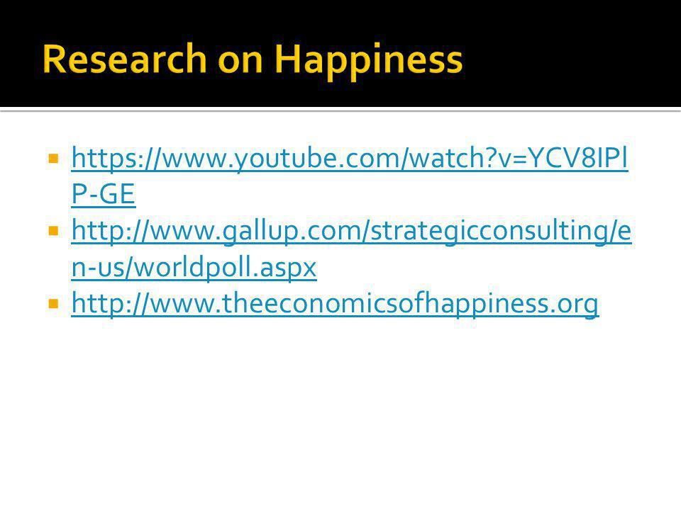 https://www.youtube.com/watch v=YCV8IPl P-GE https://www.youtube.com/watch v=YCV8IPl P-GE http://www.gallup.com/strategicconsulting/e n-us/worldpoll.aspx http://www.gallup.com/strategicconsulting/e n-us/worldpoll.aspx http://www.theeconomicsofhappiness.org