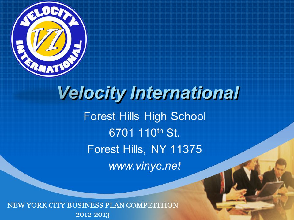 Company LOGO Velocity International Forest Hills High School th St.