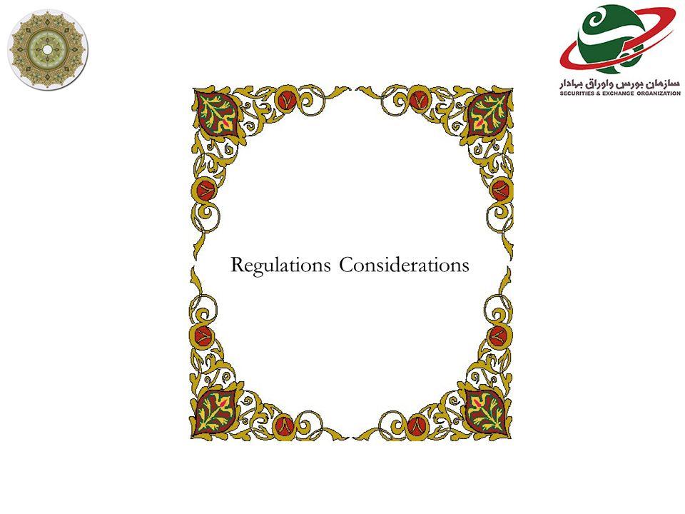 Regulations Considerations