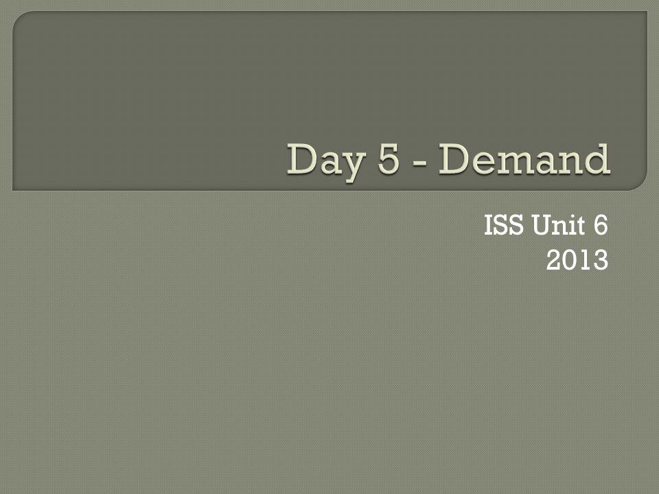ISS Unit 6 2013