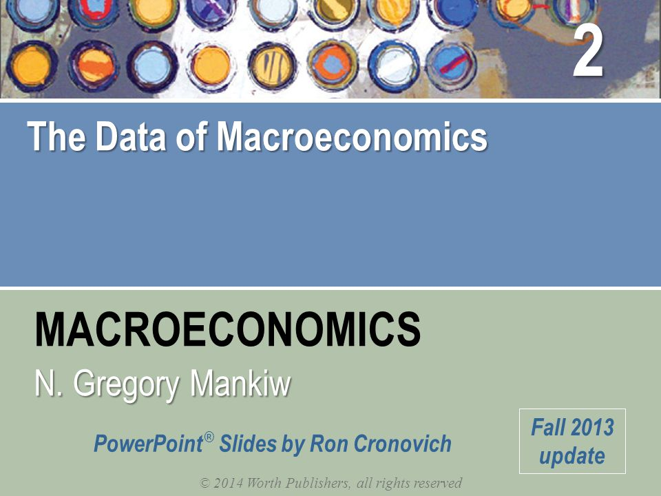 IN THIS CHAPTER, YOU WILL LEARN: …the meaning and measurement of the most important macroeconomic statistics: gross domestic product (GDP) the consumer price index (CPI) the unemployment rate 1
