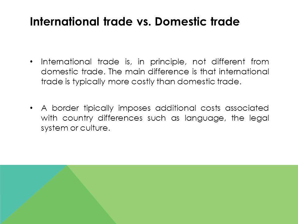International trade vs.