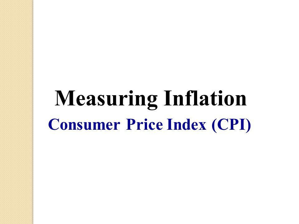 Consumer Price Index (CPI) Measuring Inflation