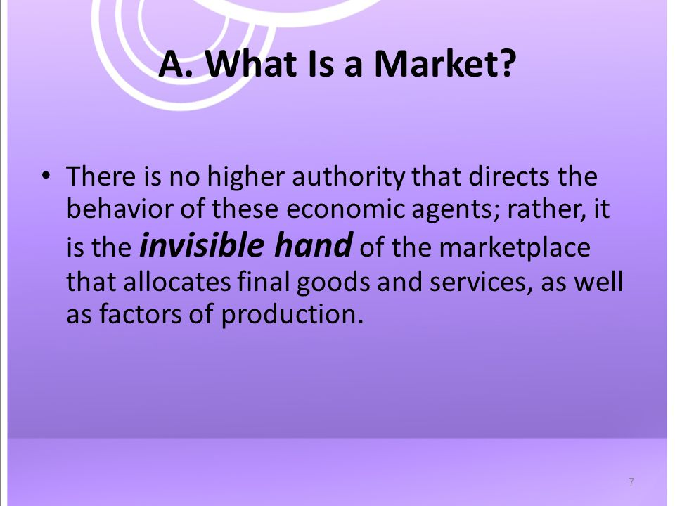 7 A. What Is a Market.
