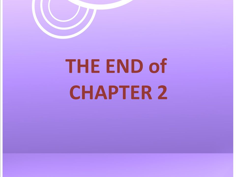 THE END of CHAPTER 2