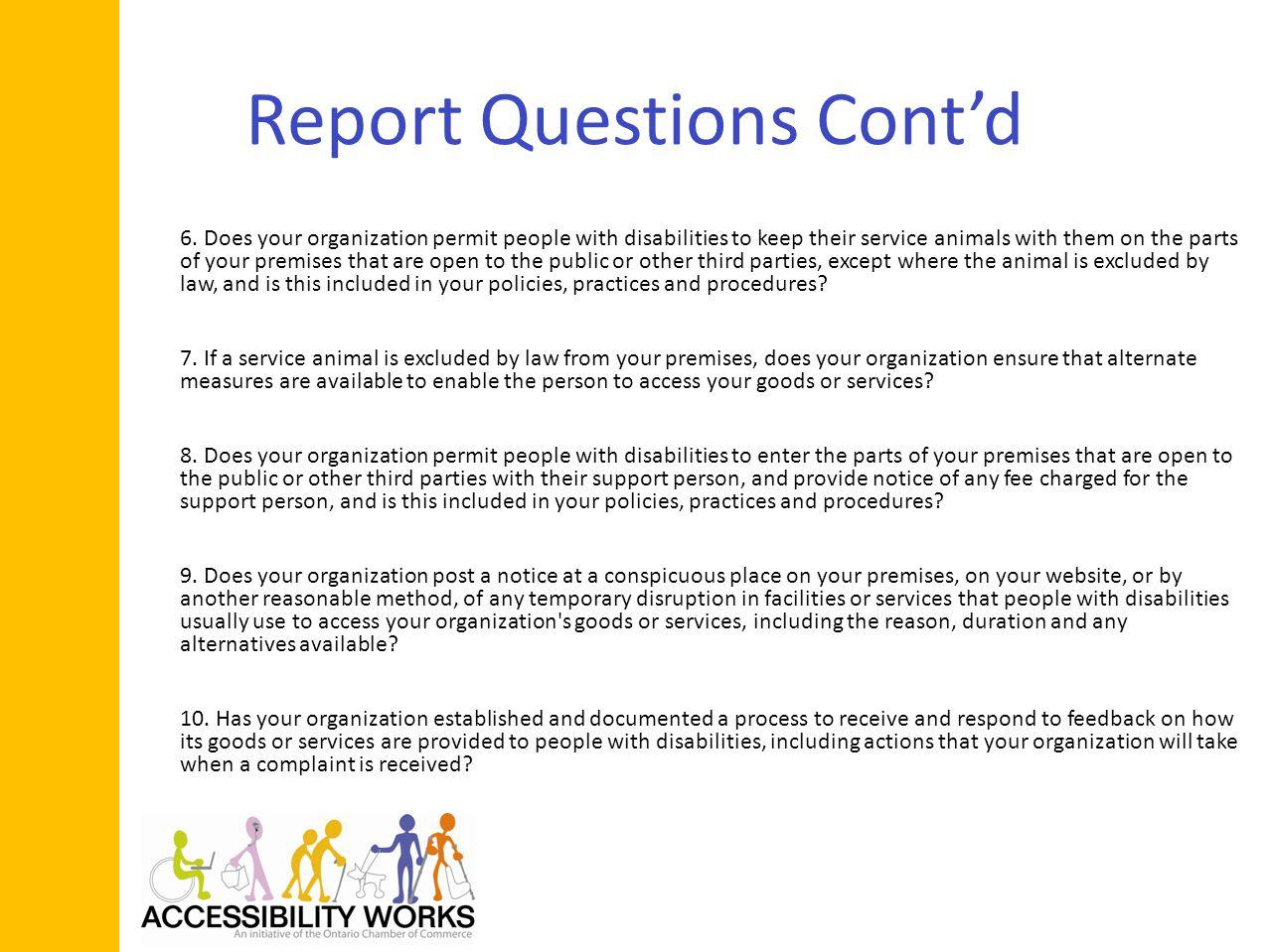 Report Questions Contd 6.