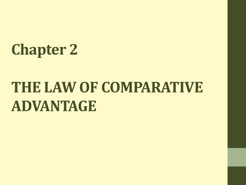 Chapter 2 THE LAW OF COMPARATIVE ADVANTAGE