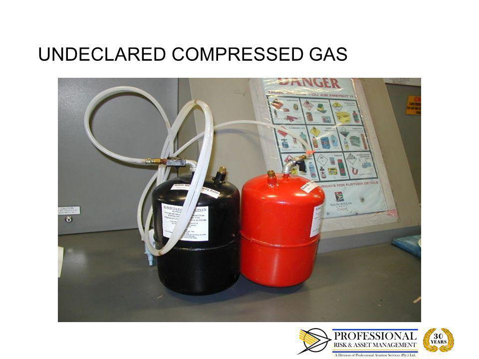 UNDECLARED COMPRESSED GAS