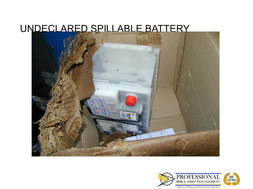 UNDECLARED SPILLABLE BATTERY