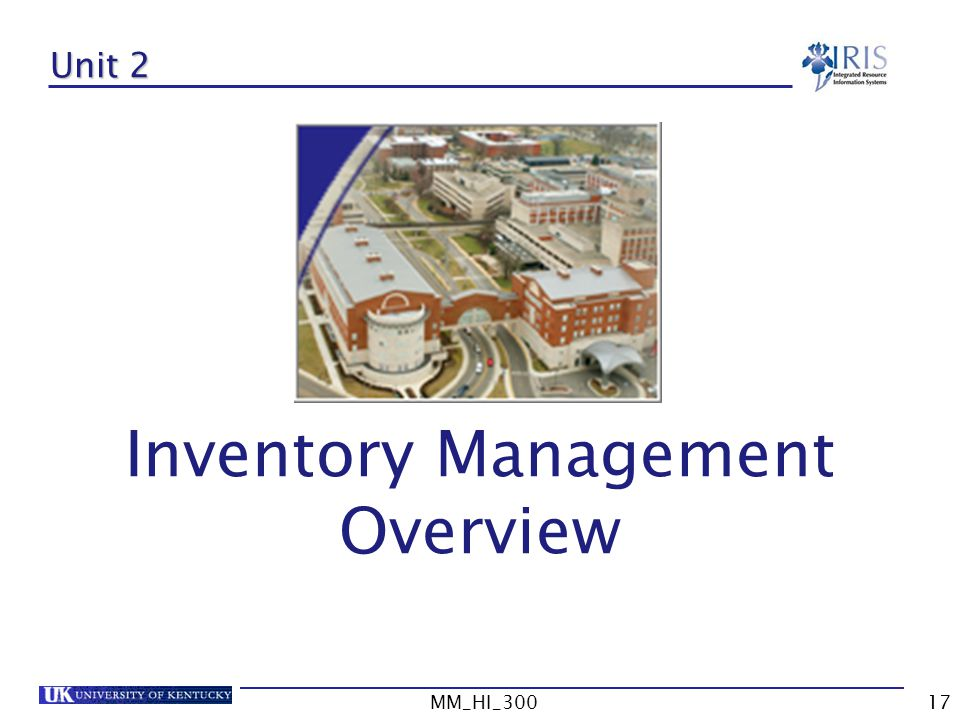 MM_HI_30017 Unit 2 Inventory Management Overview