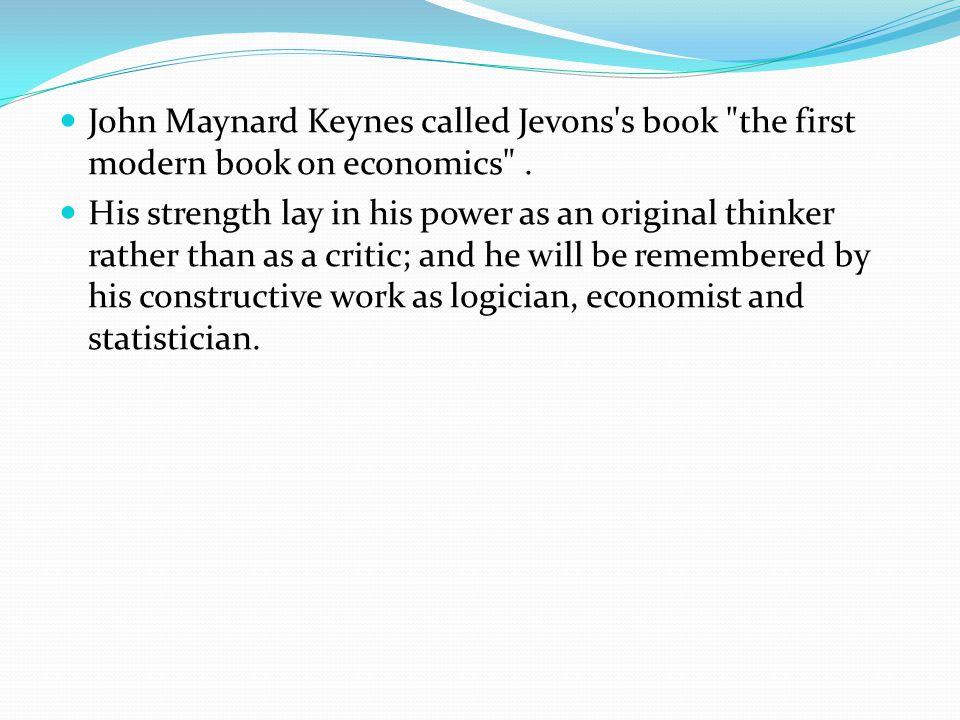 John Maynard Keynes called Jevons's book