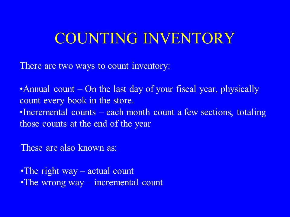 RETAIL INVENTORY FORMULA --------------------------------------------------------= COG% Ending Inventory (retail) This must be based on an actual count of the merchandise for sale at the end of the last day of the fiscal year.