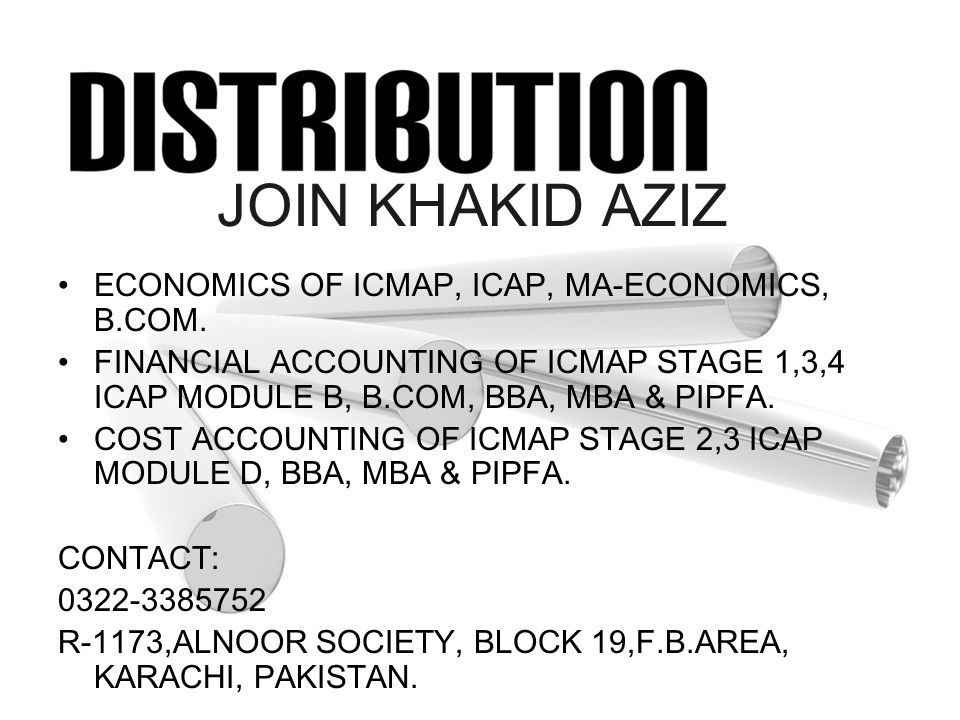 JOIN KHAKID AZIZ ECONOMICS OF ICMAP, ICAP, MA-ECONOMICS, B.COM.