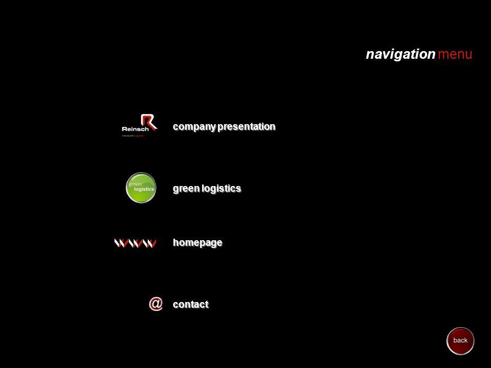 green logistics navigation menu company presentation company presentationhomepage contact