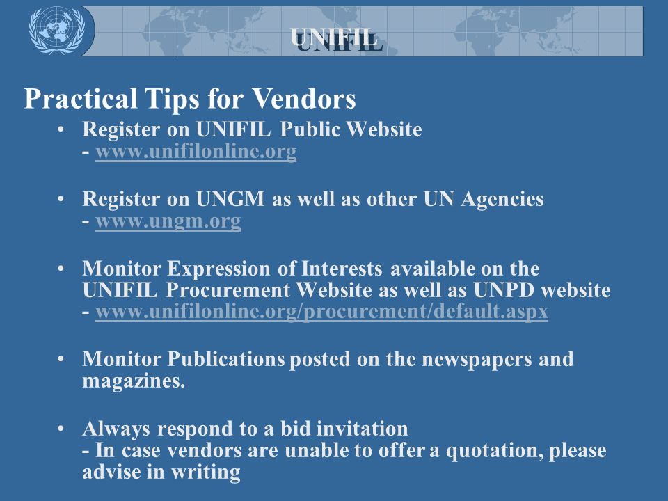 Practical Tips for Vendors