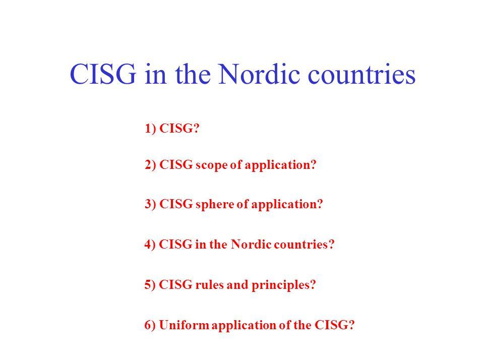 1) CISG.