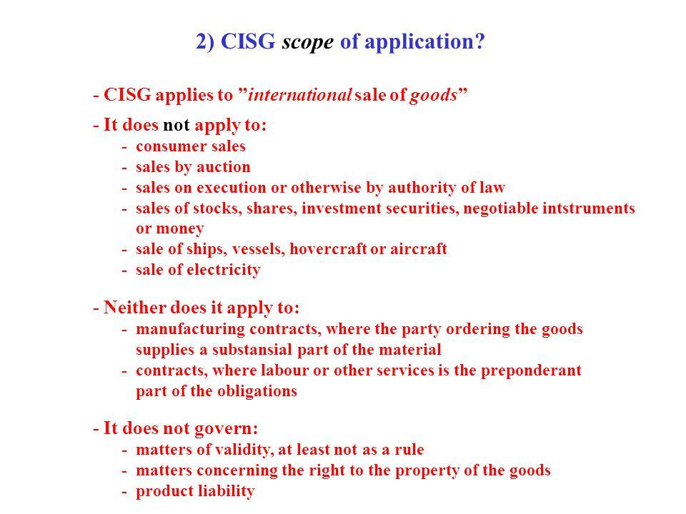 3) CISG sphere of application.