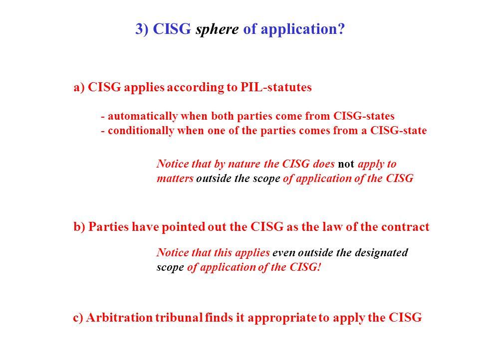 © Pace University database on CISG & International Law: http://www.cisg.law.pace.edu/ 3) CISG sphere of application.