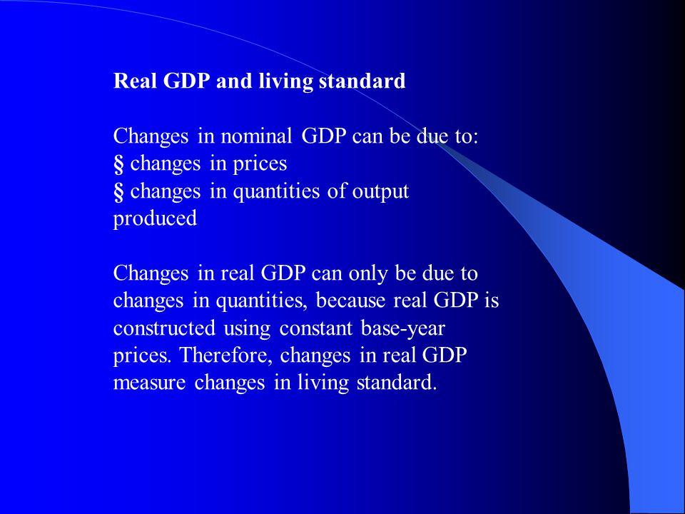 Real and Nominal GDP 2001 Nominal GDP 2006 Nominal GDP 2006 Real GDP Bread (ton) 1 at Rs.1 thousand … Rs. 1thousand 2 at Rs.2 thousand.. Rs. 4 thousan
