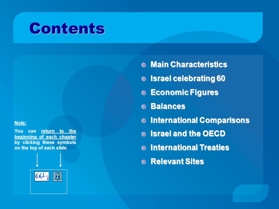 Relevant Sites Back to Contents Government Institutions: OECD Stat Profile on Israel Bank of IsraelBank of Israel (BOI) Central Bureau of Statistics Israeli Government Portal Ministry of Finance Israel Securities Authority Ministry of Industry, Trade and Labor OECD Israel Economic News: The Marker Globes WWW.FINANCEISRAEL.MOF.GOV.IL International Affairs Department Homepage: