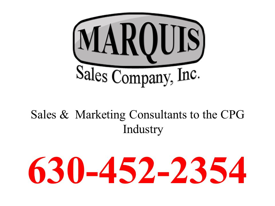 Sales & Marketing Consultants to the CPG Industry