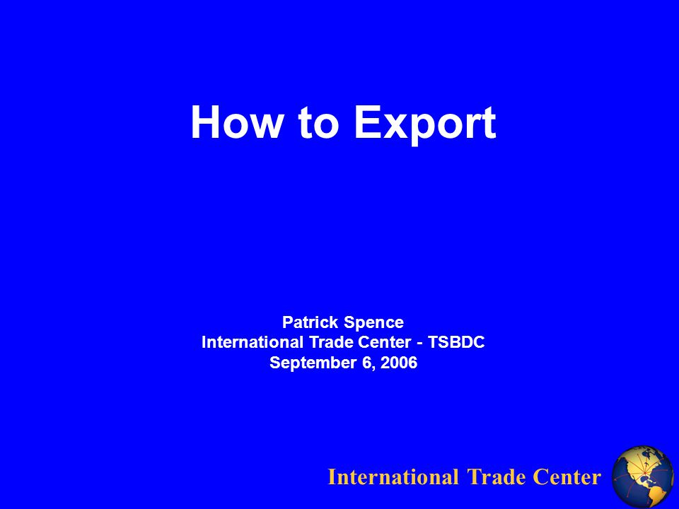 International Trade Center 2000 Incoterms Group C Main Carriage Paid CFRCost & Freight CIFCost, Insurance & Freight CPTCarriage Paid To CIP Carriage & Insurance Paid