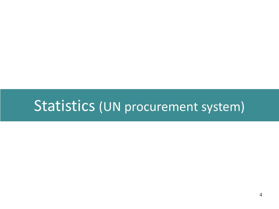 4 Statistics (UN procurement system)