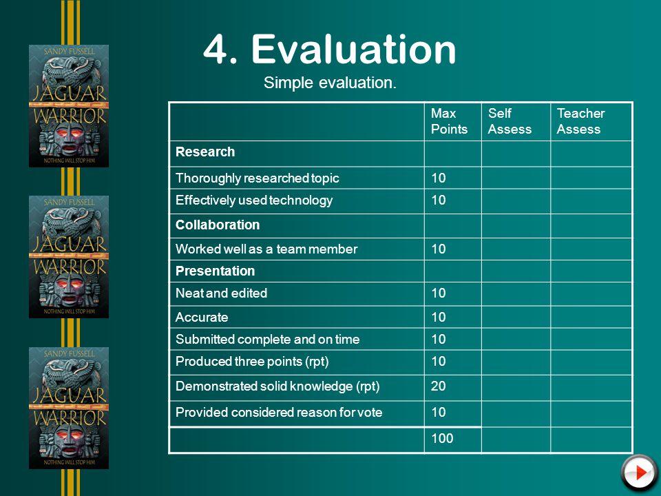 4. Evaluation Simple evaluation.