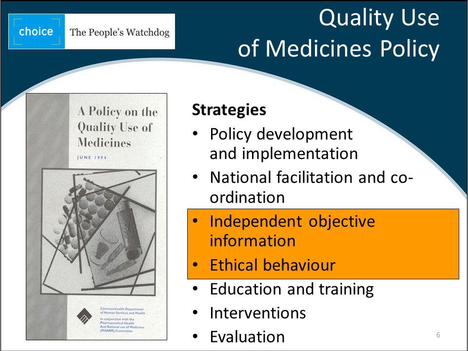 Independent objective information Prescription medicines 7
