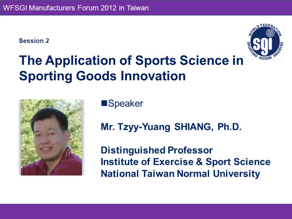 Speaker Mr. Tzyy-Yuang SHIANG, Ph.D.