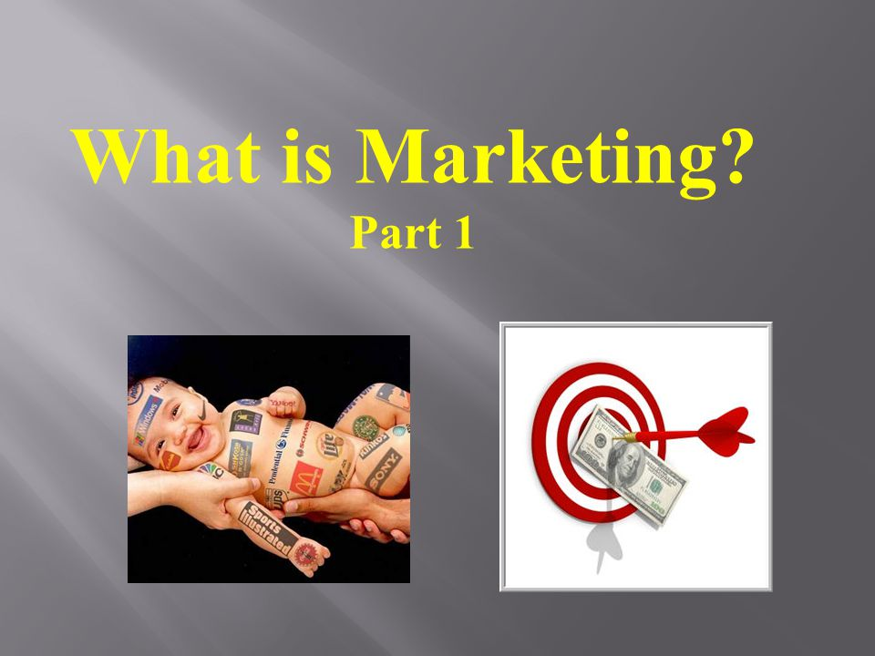What is Marketing Part 1