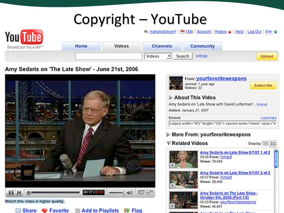 Copyright – YouTube
