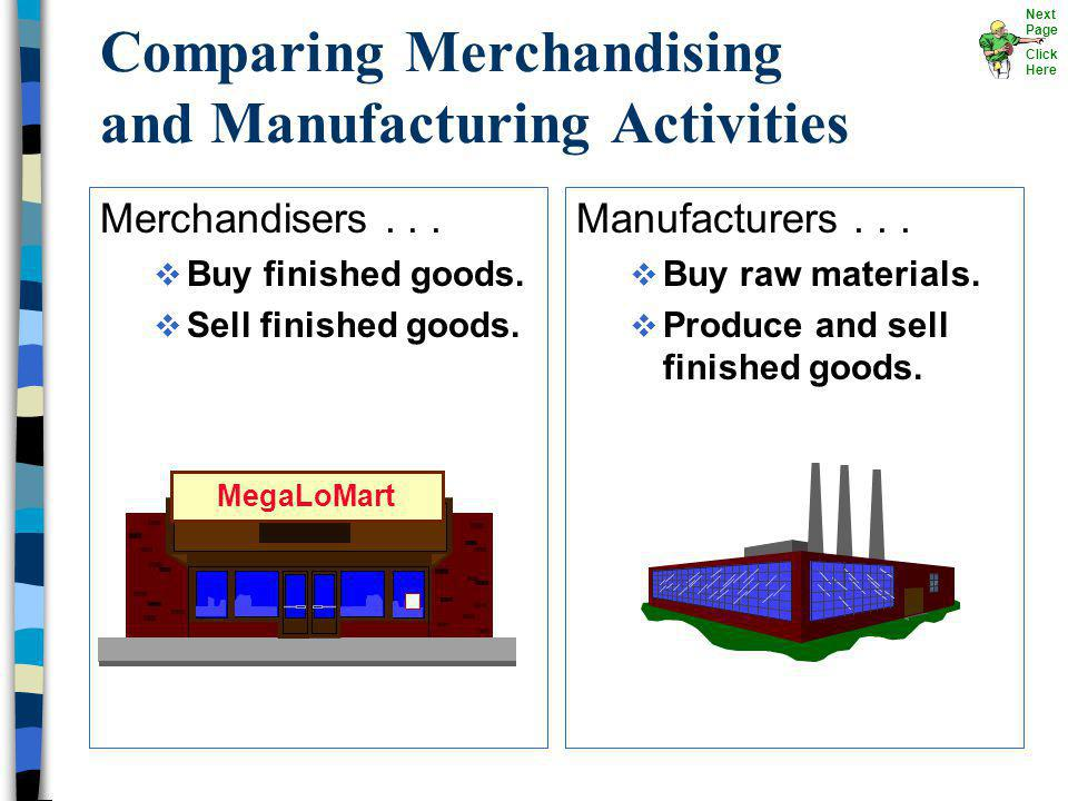 The Product Direct Materials Direct Labor Manufacturing Overhead Manufacturing Costs Next Page Click Here