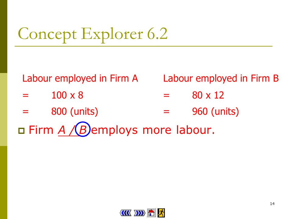 13 Concept Explorer 6.2 Labour is not the same as worker.