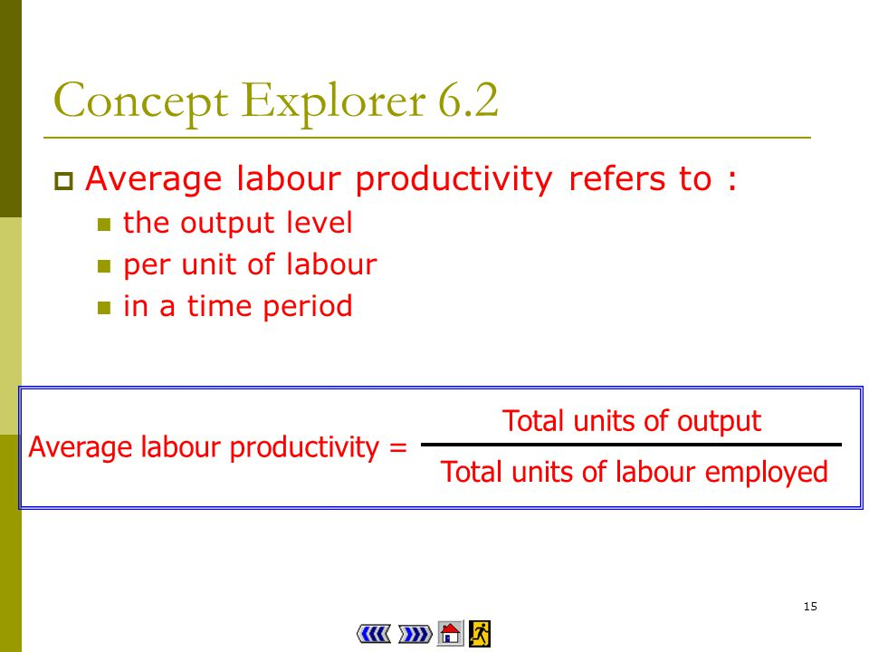 14 Concept Explorer 6.2 Firm A / B employs more labour.