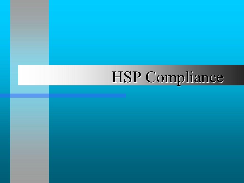 HSP Compliance