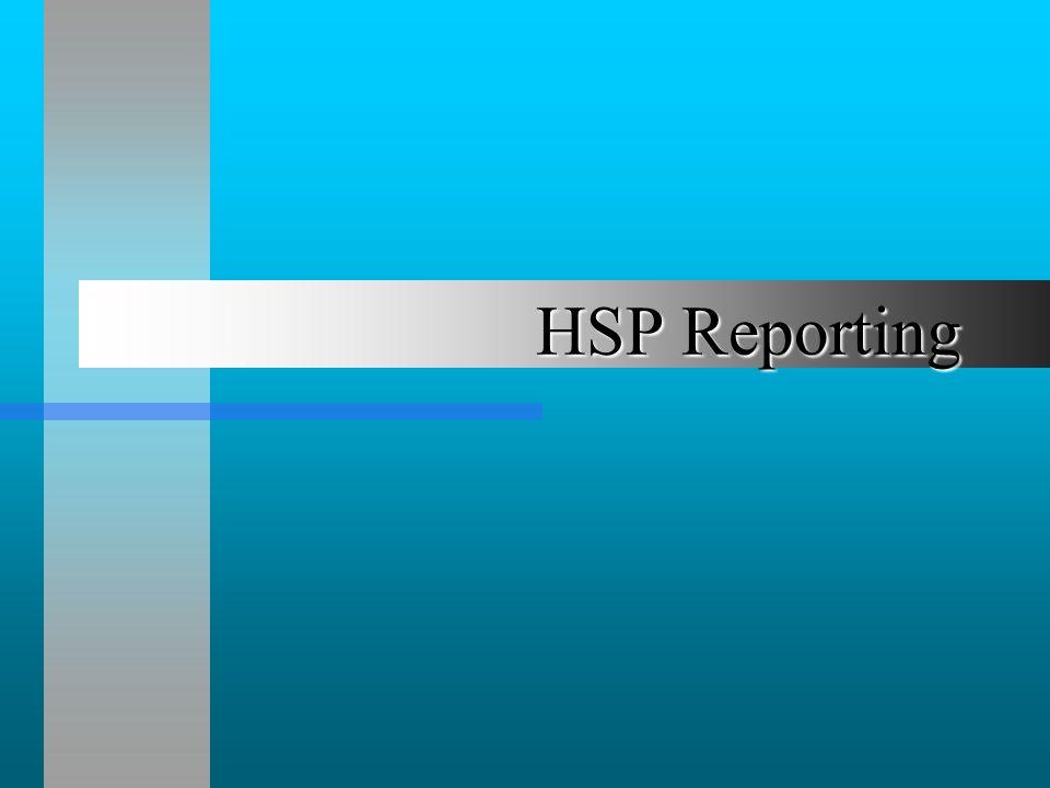 HSP Reporting